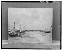 No Title Given: Dry-Docked Boats, [art work] / (photographed by Walter Rosenblum)
