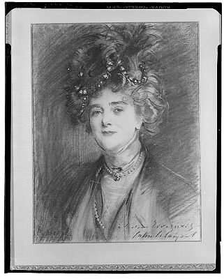 Portrait of Madame Errazuriz [drawing] / (photographed by Walter Rosenblum)