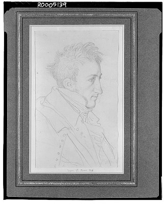 Portrait of Girard de Bury, Architect [drawing] / (photographed by Walter Rosenblum)
