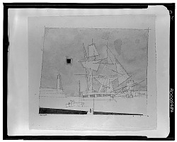 Boats and Lighthouse [drawing] / (photographed by Walter Rosenblum)