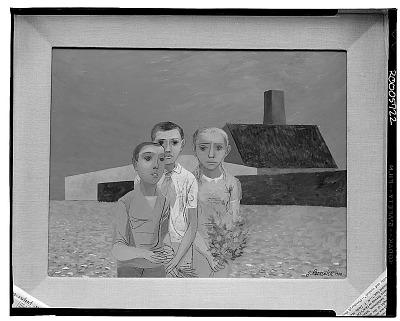 Children at Buchenwald [painting] / (photographed by Walter Rosenblum)