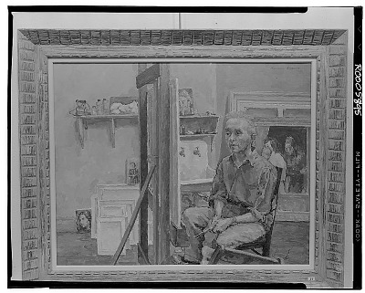Raphael Soyer in His Studio [painting] / (photographed by Walter Rosenblum)