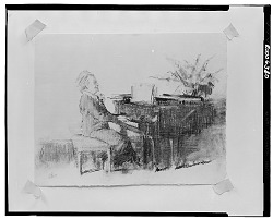 Figure at a Piano [drawing] / (photographed by Walter Rosenblum)