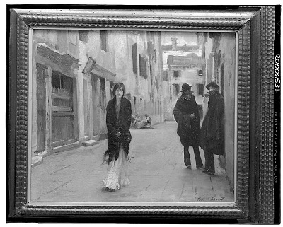 Street in Venice [painting] / (photographed by Walter Rosenblum)