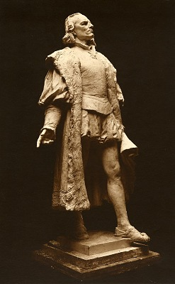 Model for Columbus (right view) [sculpture] / (photographer unknown)