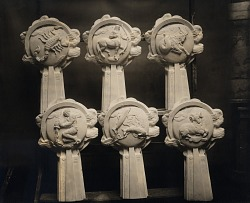 Twelve Signs of the Zodiac (detail showing six) [sculpture] / (photographer unknown)