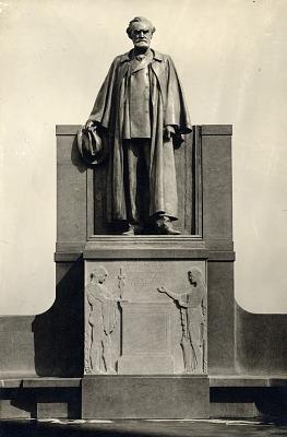 Carl Schurz Memorial (detail) [sculpture] / (photographed by De Witt Ward)