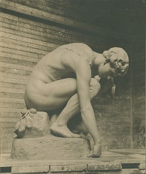 Youth and Dog [sculpture] / (photographer unknown)