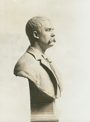Portrait bust of John Boyle O'Reilly [sculpture] / (photographed by Charles Norman Fay)