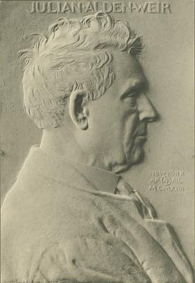 Julian Alden Weir [sculpture] / (photographer unknown)