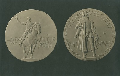 Knights of Columbus: Lafayette Medal [sculpture] / (photographed by De Witt Ward)