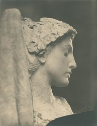 Fragment of Group (Female Figure with Eyes Closed) [sculpture] / (photographer unknown)