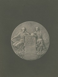 Hispanic Society of America Medal (obverse) [sculpture] / (photographer unknown)