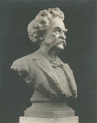 Samuel Langhorne Clemens (Mark Twain) [sculpture] / (photographed by De Witt Ward)