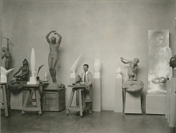 Richard H. Recchia in his Studio [photograph] / (photographed by Peter A. Juley & Son)
