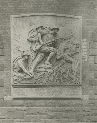 Doughboy Relief - 23rd Regiment Armory, Brooklyn, [sculpture] / (photographer unknown)