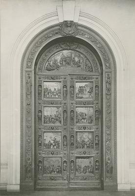 Columbus Door [sculpture] / (photographed by Leet Brothers)