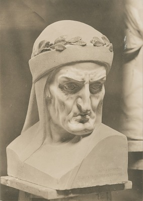 Dante [sculpture] / (photographed by De Witt Ward)