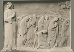 """""""And Jesus Wept"""" (relief panel) [sculpture] / (photographed by De Witt Ward)"""