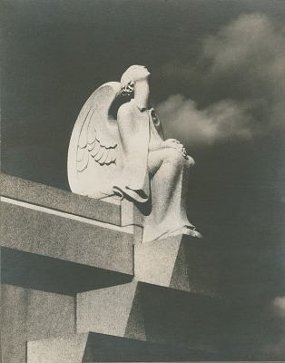 The Angel of Death [sculpture] / (photographed by De Witt Ward)
