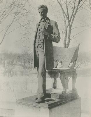 Abraham Lincoln [sculpture] / (photographed by De Witt Ward)