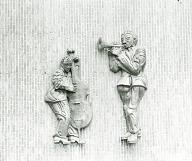 Jazz Musicians, Trumpeter and Bass Player, (sculpture)