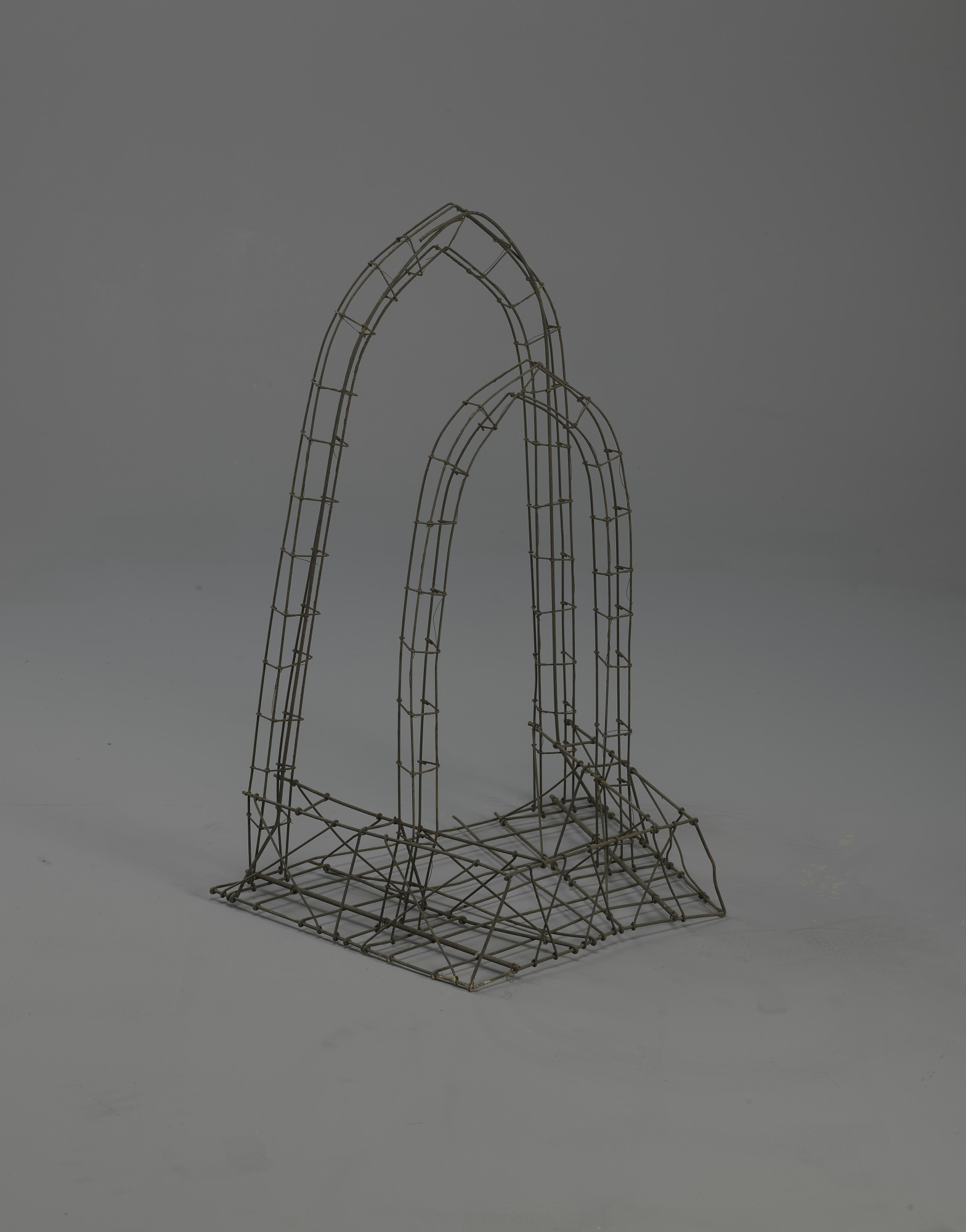 <I>Wire frame, 'Heavenly Ports' double arch</I>