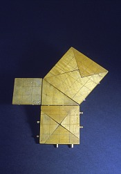 Ross Surface Form #16, Dissection Illustrating the Pythagorean Theorem