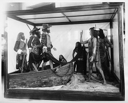 Life Group of Powhatan Indians with Capt. John Smith, Anthropology Exhibit, NHB
