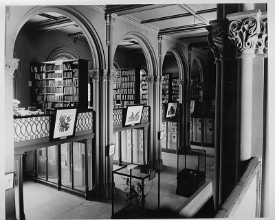 Library Stacks, Balcony, and Art Gallery, Main Hall, SIB