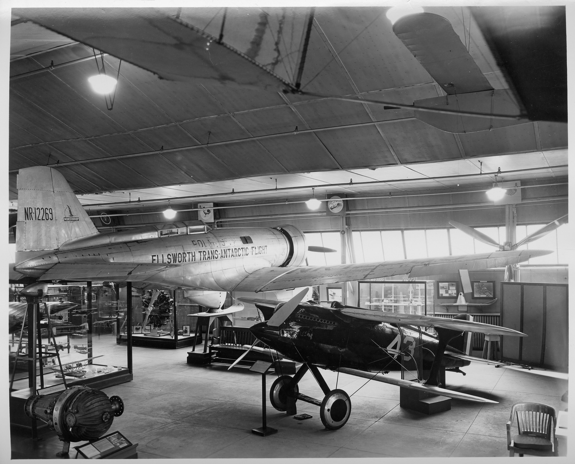 Interior View of the Aircraft Building, South Yard