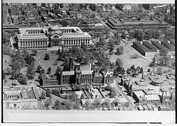 Aerial View of Smithsonian Institution Building and Natural History Building