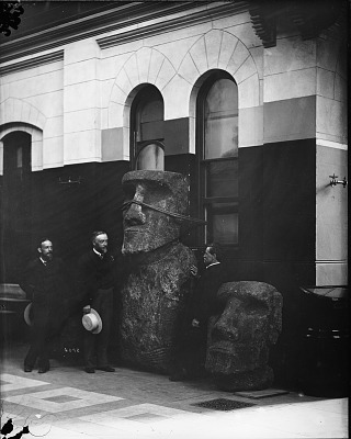 Langley with Easter Island Statues