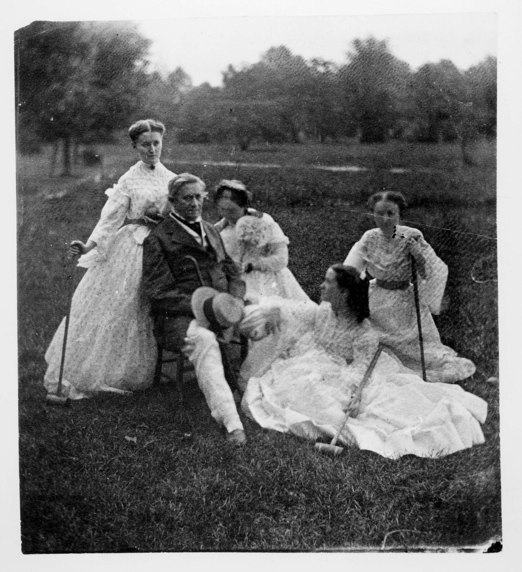 Henry Family on the Smithsonian Grounds