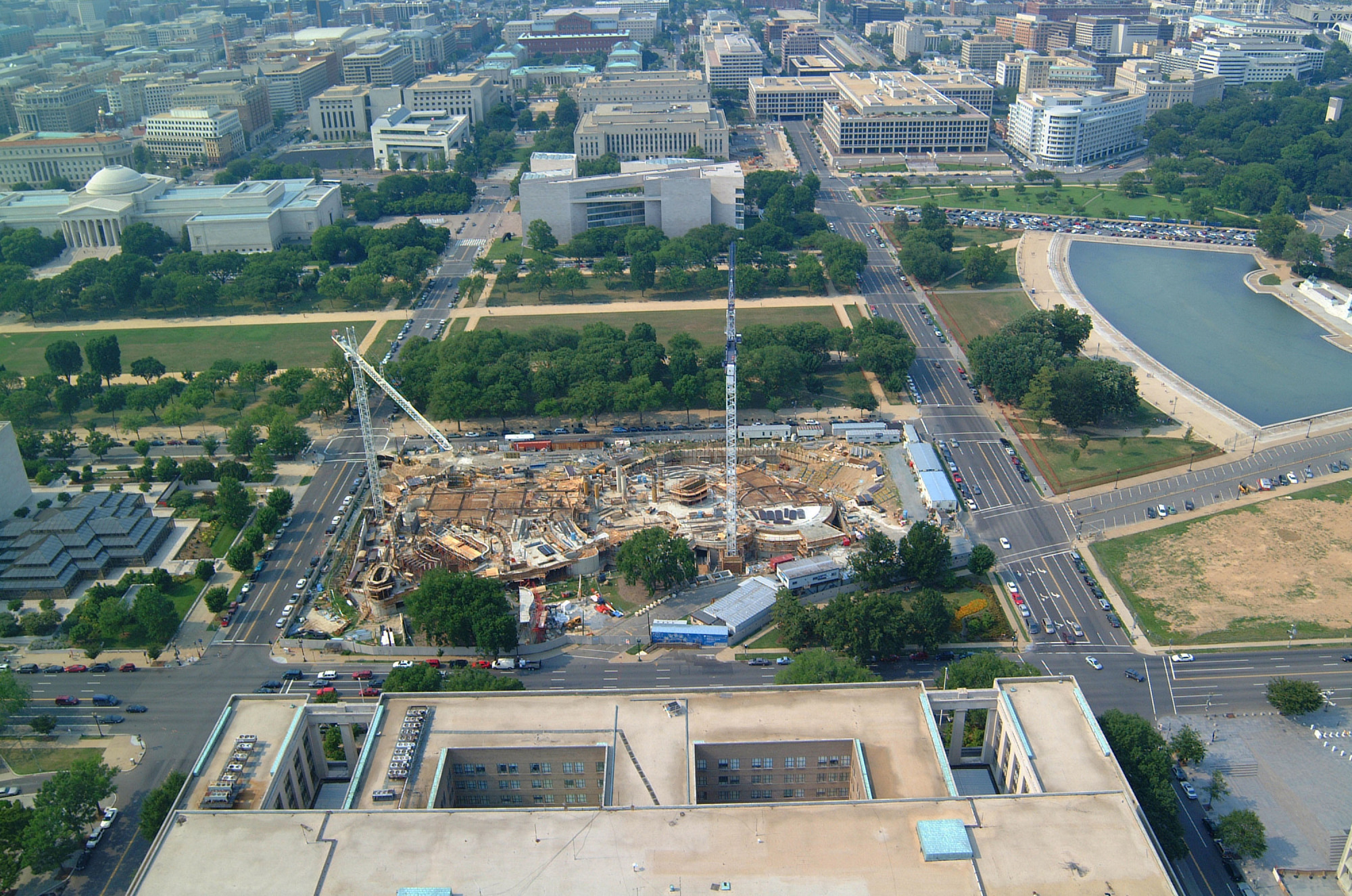 Aerial View of NMAI Construction from the South
