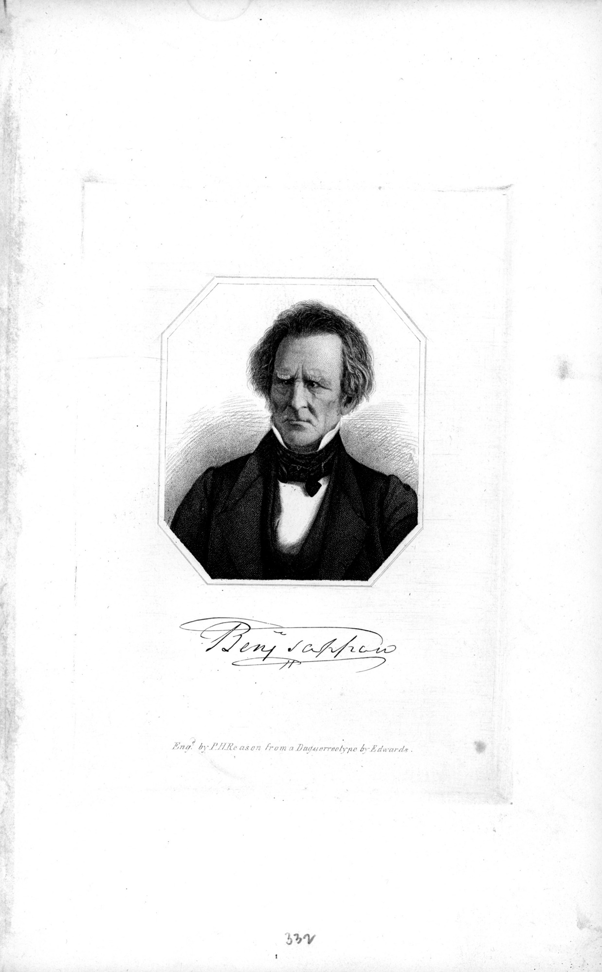 Benjamin Tappan, by Unknown, c. 1840s?, Smithsonian Archives - History Div, 2002-32256.