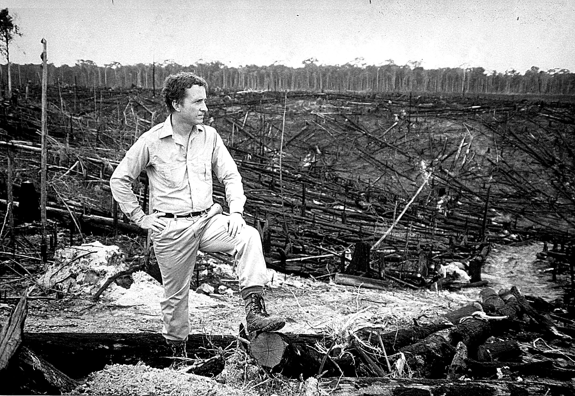 Thomas Lovejoy in Brazil, by Bayer, Wolfgang, 1986, Smithsonian Archives - History Div, 2002-32304.