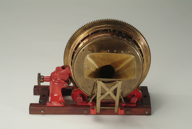 Concrete mixer model, about 1910