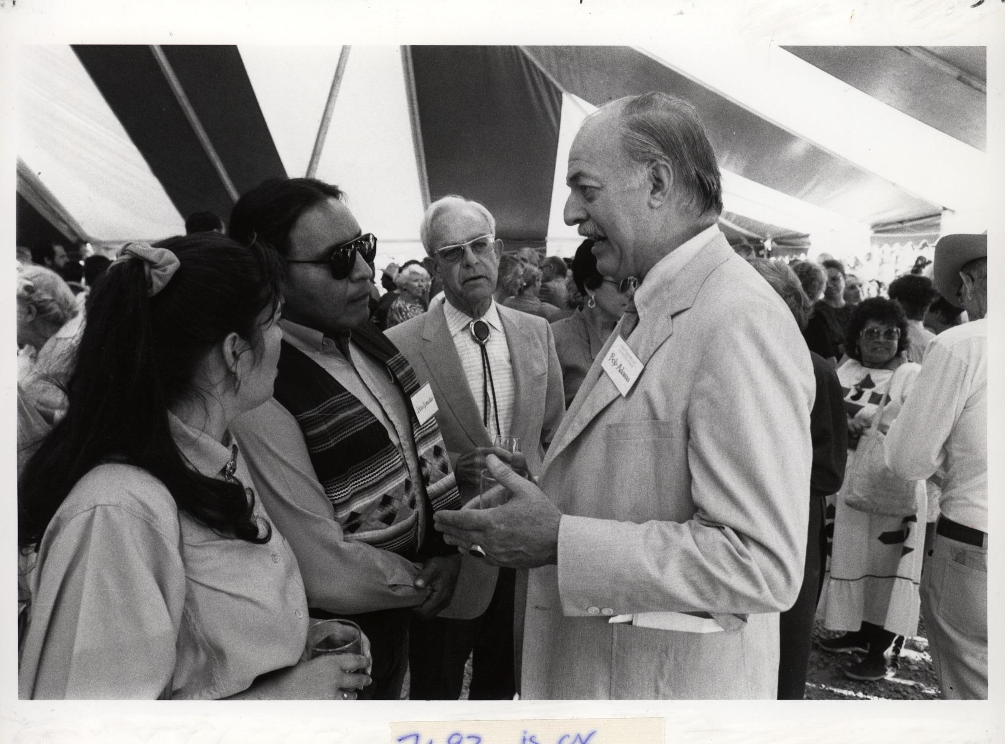 Secretary Robert McCormick Adams and John Gonzales