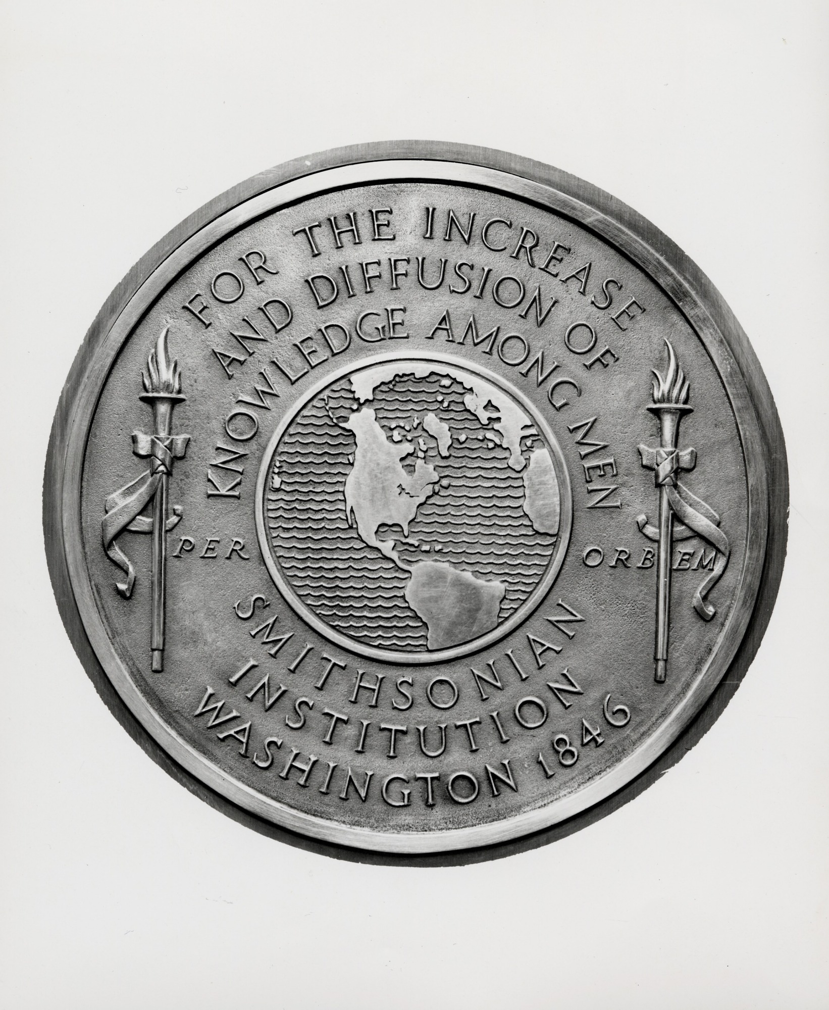 Smithsonian Seal, by Unknown, 1893 or later, Smithsonian Archives - History Div, 2003-19534.