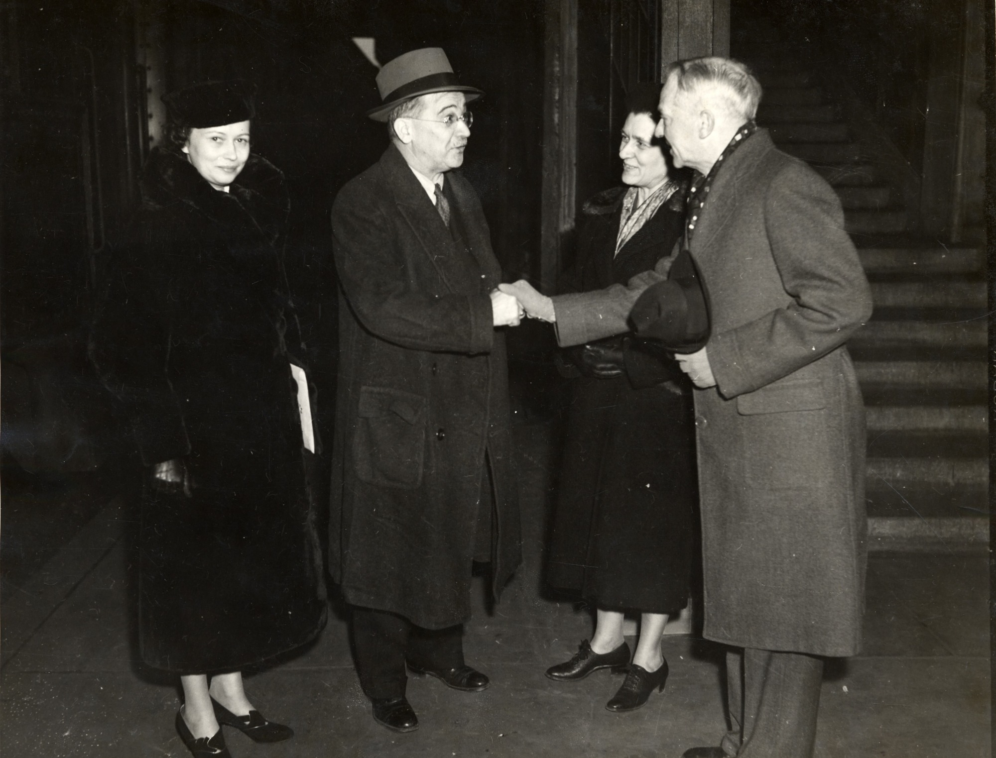 William and Lucy Mann Meeting Austin and Leila Clark