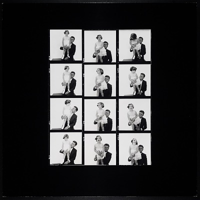 Enlarged Contact Sheet of John F. Kennedy and Caroline Kennedy