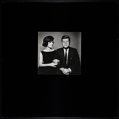 Photograph of John F. Kennedy and Jacqueline Bouvier Kennedy