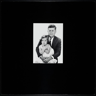 Photograph of John F. Kennedy and Caroline Kennedy