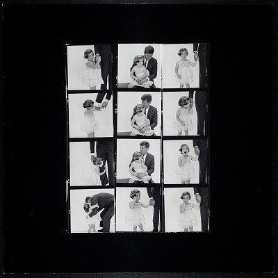 Enlarged Contact Sheet of Caroline Kennedy with her father, John F. Kennedy