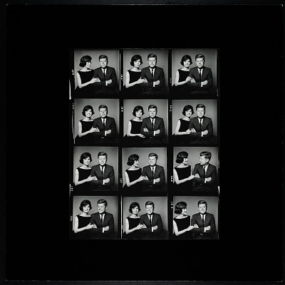 Enlarged Contact Sheet of John F. Kennedy and Jacqueline Bouvier Kennedy