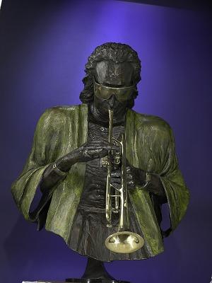 Bust of Miles Davis