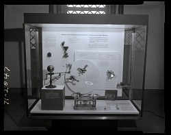 """A Foretaste of the Exhibitions Being Created for the National Air and Space Museum"" Exhibit Case"