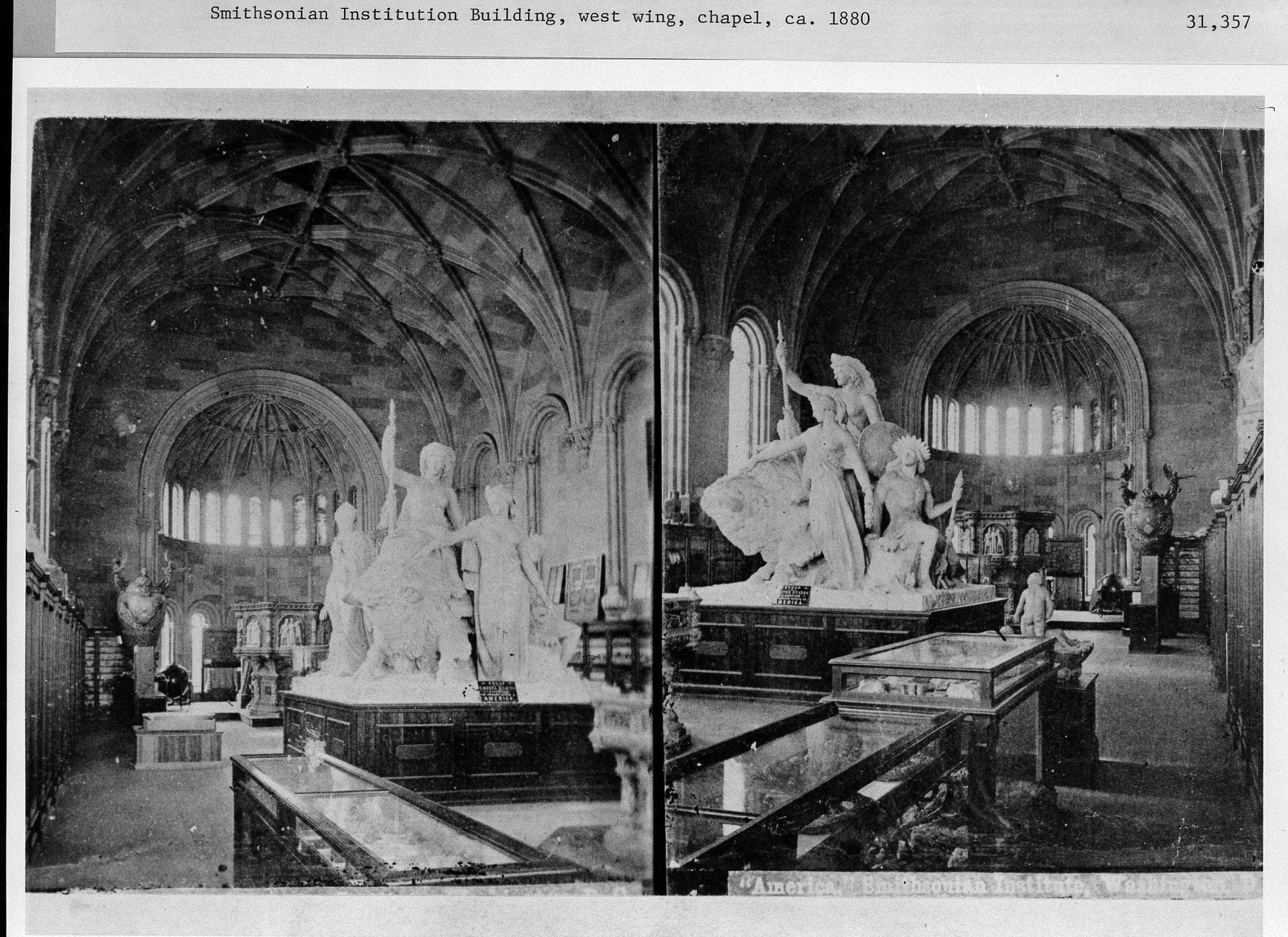 Exhibit in West Wing of Smithsonian Institution Building, c. 1880