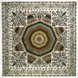 """images for 1825 - 1835 Betsy Totten's """"Rising Sun"""" Quilt-thumbnail 1"""
